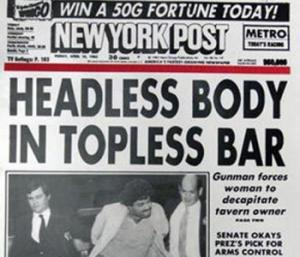 headless body New York post 1983